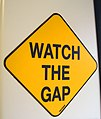 Metro North gap sign.jpg