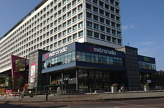 Metro Radio - Metro Radio on the Swan House roundabout in Newcastle upon Tyne