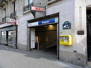 Riquet (Paris Métro) - Image: Metro de Paris Ligne 7 Riquet 03