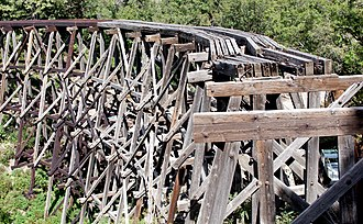 Lincoln National Forest - Wood Railroad Trestle across Mexican Canyon