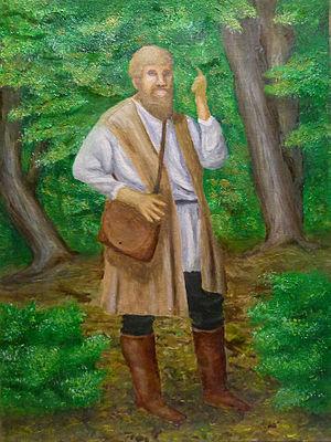 Michael Sattler - Michael Sattler preaching in the woods.