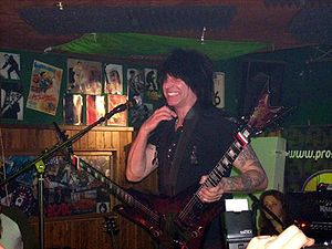 Michael Angelo Batio with his double guitar