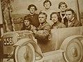 "Michel Declercq Andre, Demedts Gabrielle Demedts, Kortrijk ""paasfoor"" around 1922.jpg"
