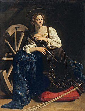 Michelangelo Merisi da Caravaggio: Sveta Katarina Aleksandrijska (1595.-1596.); zbirka Thyssen-Bornemisza, Madrid