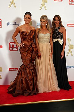 Michelle Bridges, Tiffiny Hall and Hayley Lewis 2011.jpg