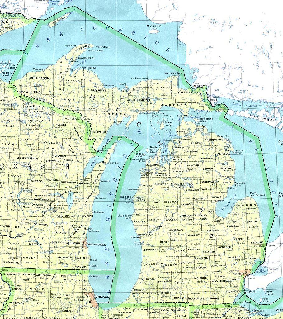 Mapa De Michigan Estados Unidos - Mapa de michigan
