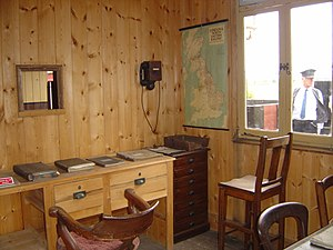 Mid-Suffolk Light Railway - The Booking office of a typical Middy Station