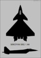 Mikoyan 1.44 two-view silhouette.png