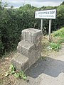Mile Stone and Mounting Block with O.S. Bench Mark (geograph 5991602).jpg