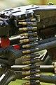 Military equipment replicas for WW2 re-enactment in Fort Harrison State Park, Lawrence, Indiana, US September 2008. German Machine Gun cartridges ammunition belt.jpg