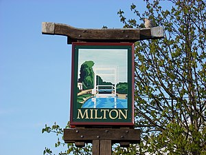 Milton, Cambridgeshire - Image: Milton village sign