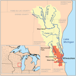 map of ozaukee county wi with Milwaukee River on Laccourt2 Sawyer besides 545273 furthermore Wisconsin also County 20Maps additionally Maps.