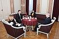 Ministru prezidents Valdis Dombrovskis tiekas ar Beļģijas Karalistes vēstnieku Latvijā Franku Arnautsu (6689143213).jpg