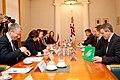 Ministru prezidents Valdis Dombrovskis tiekas ar Igaunijas lauksaimniecības ministru Heliru Valdoru Sederu (6430246087).jpg