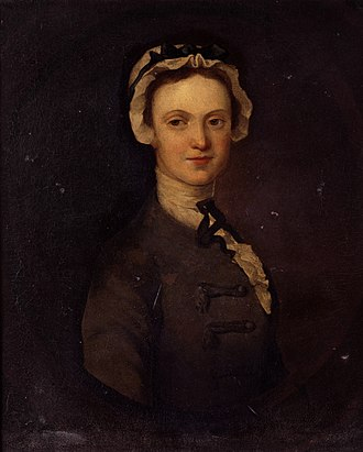 Richard Wilson (painter) - Portrait of Miss Catherine Jones of Colomendy, Wilson's  cousin. c.1740