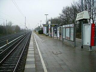 Mittlerer Landweg station railway station in Hamburg, Germany