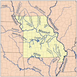 Cartina Fiumi Usa.Missouri Fiume Wikipedia