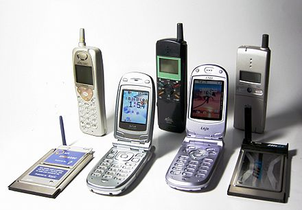 Personal Handy-phone System mobiles and modems, 1997-2003 Mobile phone PHS Japan 1997-2003.jpg