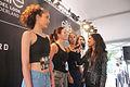 Modellen klaar voor de catwalk elite model wedstrijd Spijkenisse.jpg