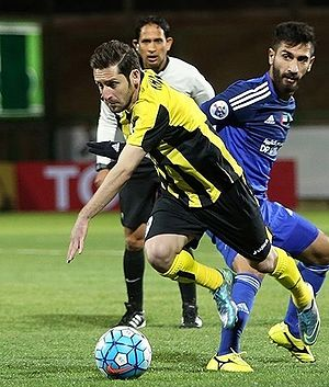 Mohammad Reza Khalatbari (born 1983) - Khalatbari playing for Sepahan in an AFC Champions League match against Al-Nasr