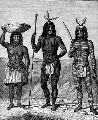 Mohave War - Mohave Indians by H.B. Mollhansen, 1856.