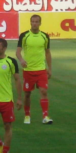 Mohsen Bengar - Bengar in a match against Naft Tehran, 23 August 2013
