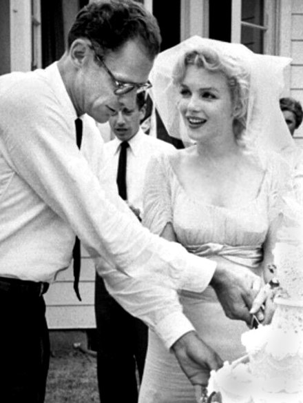 Miller and Marilyn Monroe tie the knot in Westchester County, New York, 1956 Monroe Miller Wedding.jpg