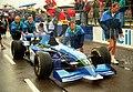 Montermini 1995 British GP pitlane.jpg