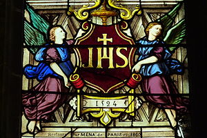 Holy Name of Jesus - IHS monogram, Montmorency, France