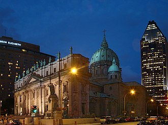 Downtown Montreal - Mary, Queen of the World Cathedral is a Catholic minor basilica in Downtown Montreal.