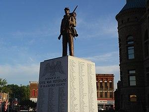 Henry Crimmel - Blackford County Civil War monument in Hartford City, Indiana.