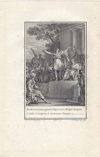 Brutus (tragedy) - Jean-Michel Moreau: Illustration of Brutus 1783