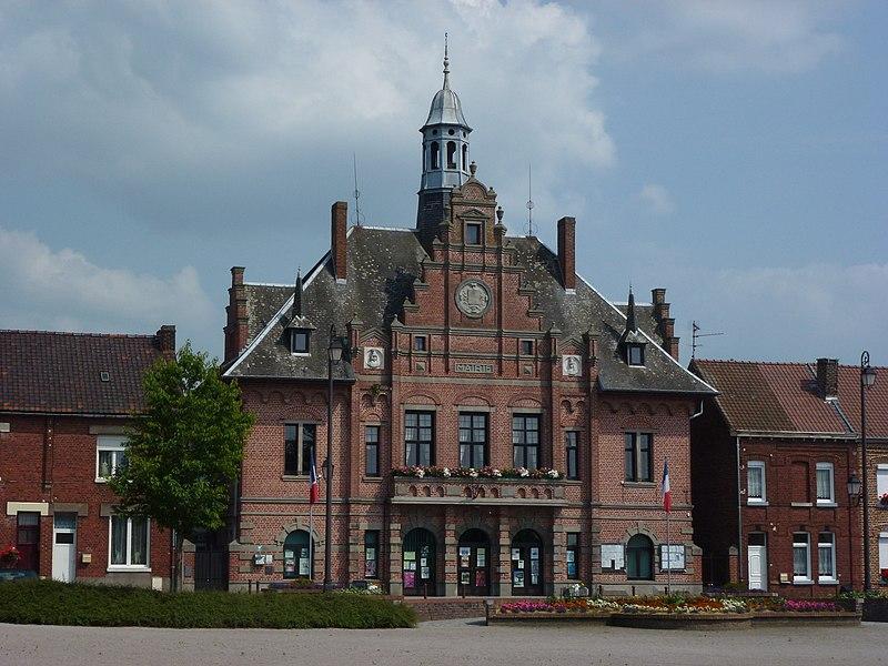 Mortagne-du-Nord (Nord, Fr) la mairie