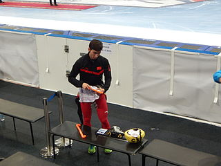 Wu Dajing Chinese short track speed skater