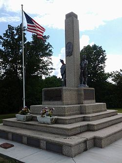 Mother Jones and Martyrs of the Progressive Miners of America Monument, Mount Olive, Illinois.jpg