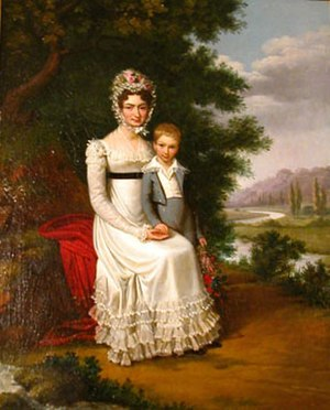 Édouard Pingret - Image: Mother and son by Edouard Pingret (1821)
