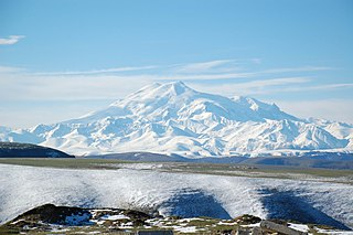 Mount Elbrus the highest mountain of Russia and one of the highest in Europe
