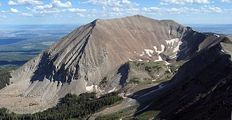 Mount Peale - The north face of Mount Peale, as seen from the summit of Mount Mellenthin