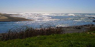 Smith River (California) - The mouth of the Smith River as it enters the Pacific Ocean