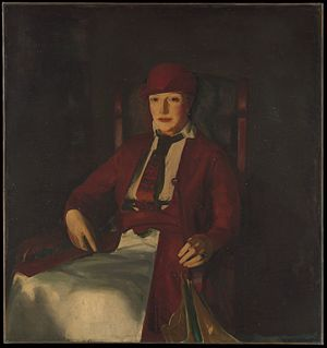 Chester Dale - Mrs. Chester Dale, a portrait of his wife, by George Bellows, 1919, at The Metropolitan Museum of Art