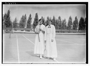 Clare Cassell - Clare Cassell and Mrs. Marshall McLean at the Montclair Athletic Club on September 19, 1913