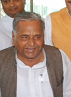 Mulayam Singh Yadav Indian politician and former chief minister of the state of Uttar Pradesh.