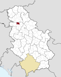 Location of the municipality of Irig within Serbia