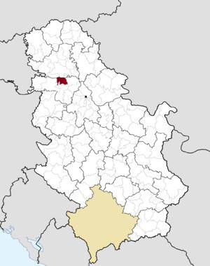 Irig, Serbia - Image: Municipalities of Serbia Irig