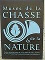 Musee de la Chasse et de la Nature signage.jpg