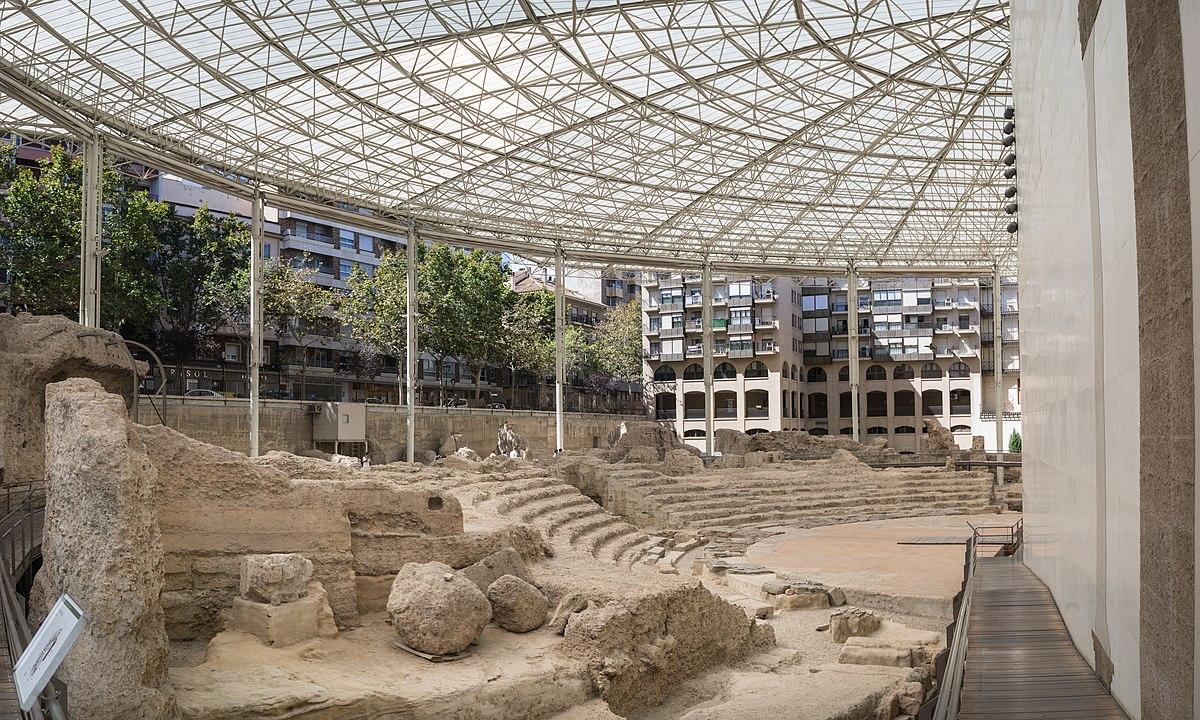 Teatro romano de Zaragoza - Wikipedia, la enciclopedia libre