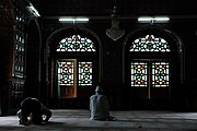 Muslims praying in mosque in Srinagar, Kashmir