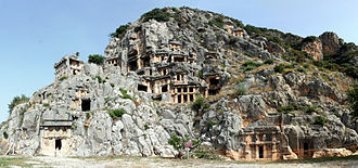 Myra - Rock-cut tombs in Myra.