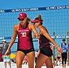 NCAA beach volleyball at Fiesta on Siesta, April 2016 (26358630925).jpg