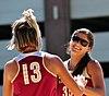 NCAA sand volleyball match at FSU, April 2013 (8667276028).jpg